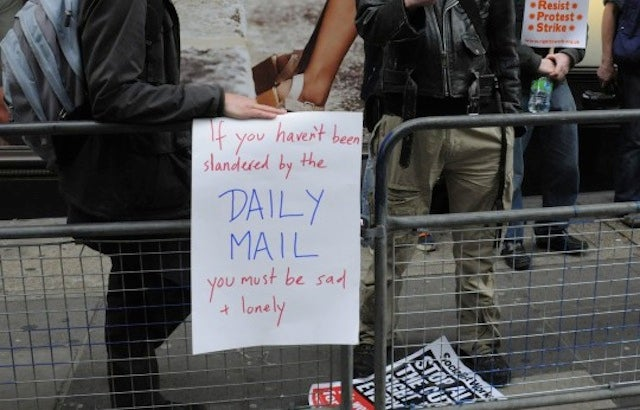 Activists Picket The Daily Mail