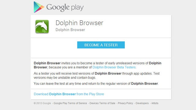 Dolphin Browser Releases a Beta with Early Access to New Features