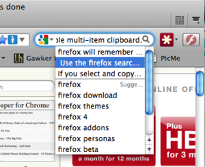 Use Firefox's Search Box as a Searchable, Multi-Item Clipboard
