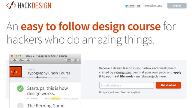Hack Design Delivers Design Lessons to Your Inbox Each Week