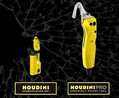 Houdini Pro Emergency Rescue Tool Busts You Out Of a Wrecked Or Drowning Car