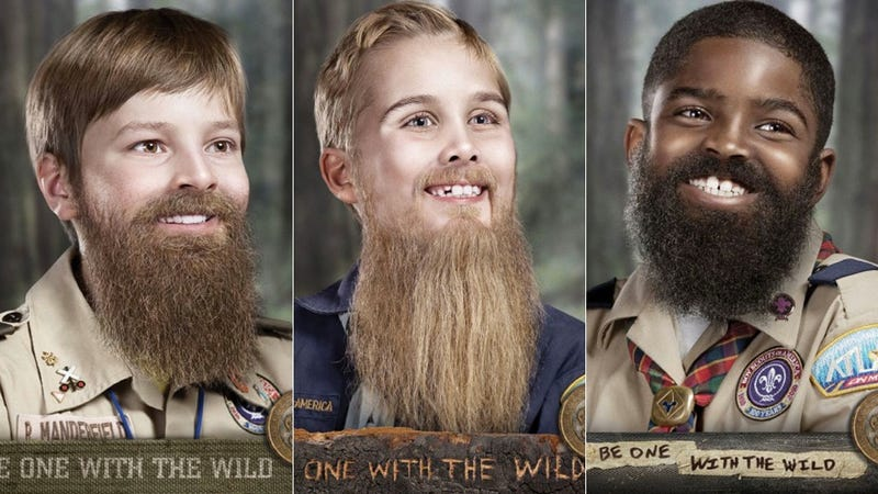 Warning: Boy Scouts May Cause Extremely Premature Beard Growth