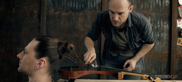 Did you know you can actually play a violin strung with human hair?