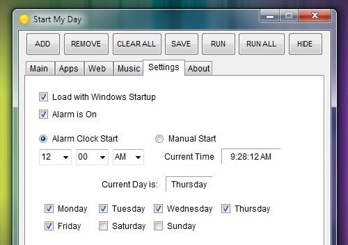 Start My Day Batches and Schedules Your Windows Routines