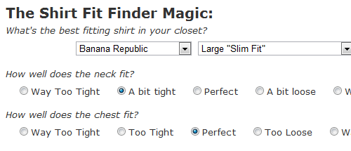 Fit Finder Matches Men to Their Perfect Shirt