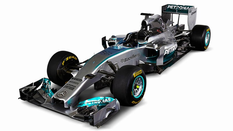 Mercedes Unveils W05 2014 F1 Car And Immediately Crashes It