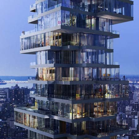 Bird's Nest Architects' Latest Unveiling: A Vertigo-Inducing Jenga Apartment Tower in NYC