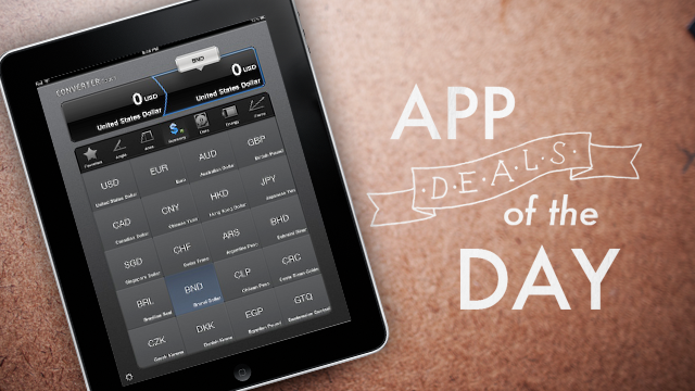 Daily App Deals: Get Converter Touch HD for iPad for Free in Today's App Deals