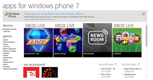How Many Windows Phone 7 Apps Will Be There at Launch?