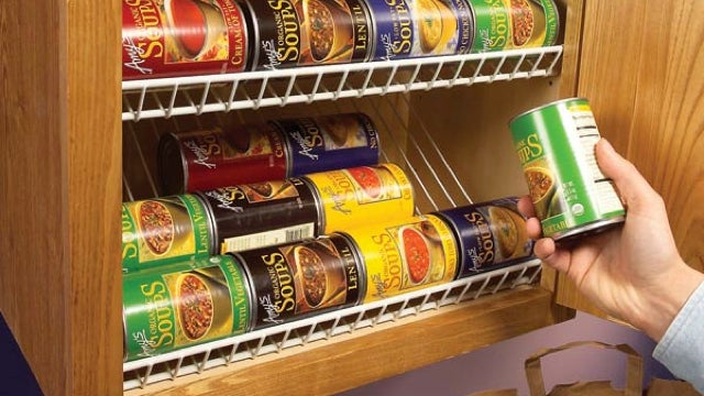 Pimp Your Kitchen Cabinet with a Closet Rack