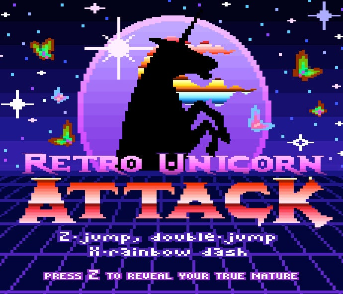 Robot Unicorn Attack Goes Retro