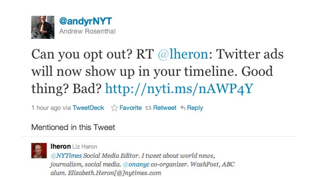 Stop Whining: Ads in Twitter Are Awesome