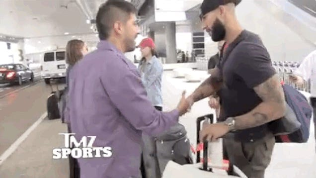 Tim Howard Blocks Unwanted Hugs, Too