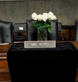 Robert Byrd's Coffin Coming To Senate Chamber