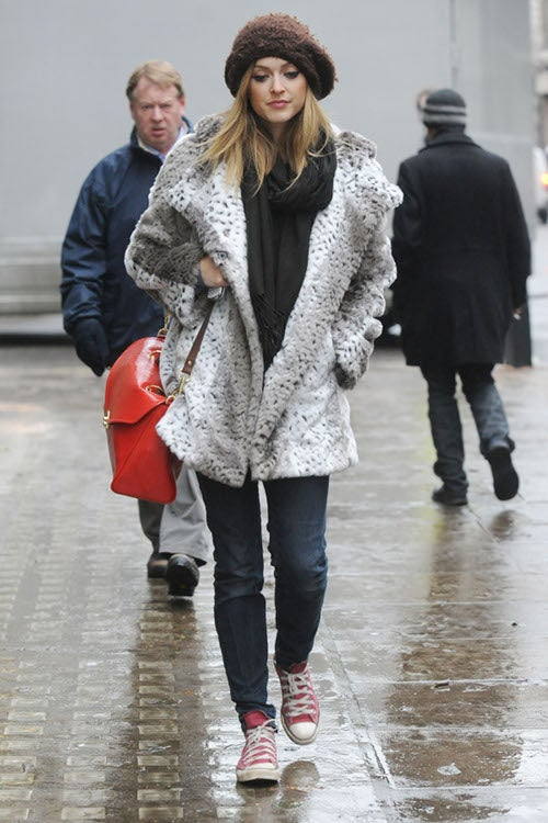 London's Epic Winter Makes For Interesting Celebrity Street Style