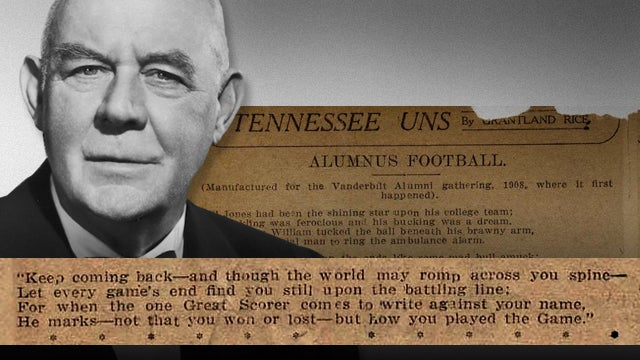 Close Reading: Did Grantland Rice Misquote Grantland Rice's Most Famous Quote?