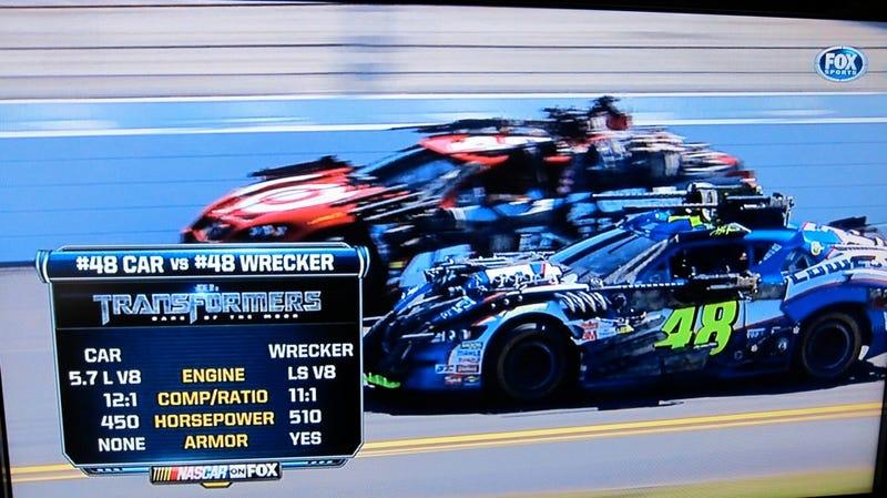 NASCAR Transformers attack Daytona 500