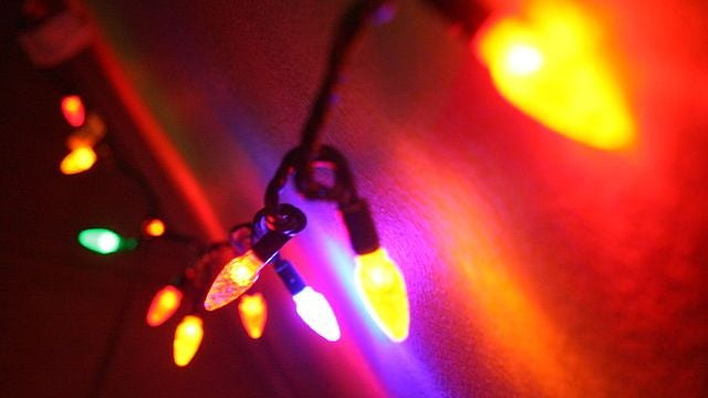 How to make your neighbors' Christmas lights flicker inside your head