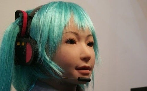 SEGA PSP Vocaloid Character Turned Into Robot