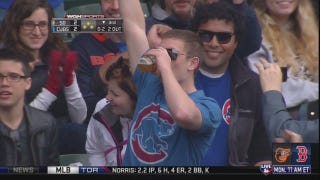 Another Cubs Fan Catches Foul Ball In Beer, Chugs It