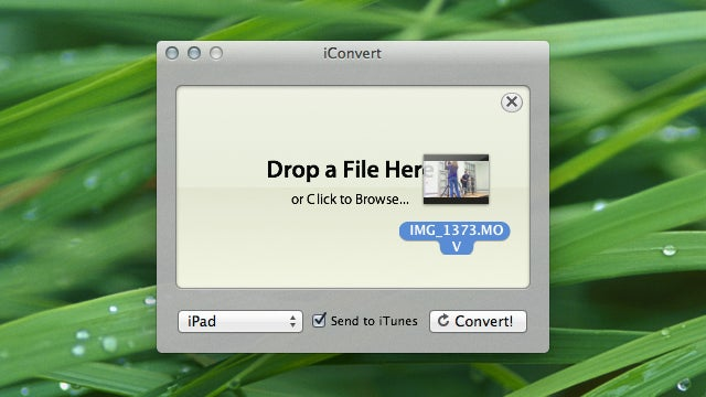iConvert Instantly Converts Audio and Video for Your iOS Device, Is So Easy a Caveman Could Use It