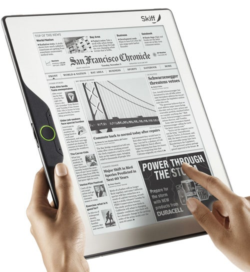 Skiff Reader: The Largest Yet Thinnest eBook Reader to Date
