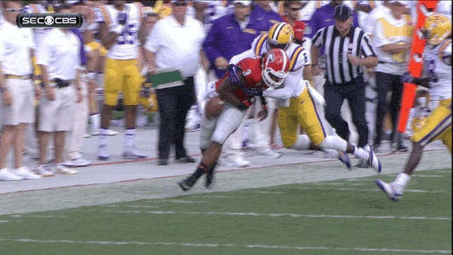 Here's The Play That Knocked Todd Gurley Out Of Georgia-LSU