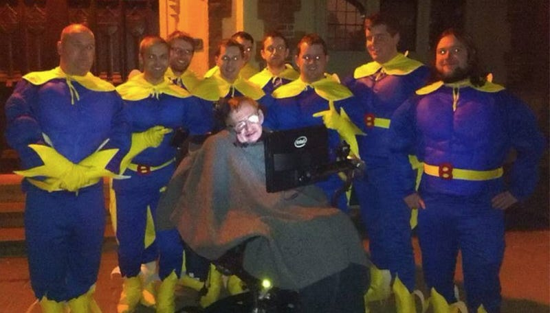 Stephen Hawking Almost Joins Bachelor Party With Bros in Banana Suits