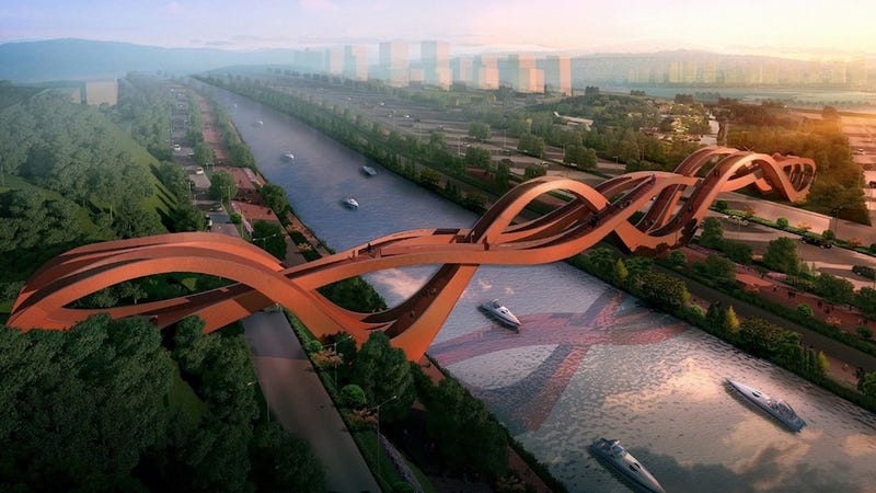 China is building an alien looking mobius strip-inspired bridge