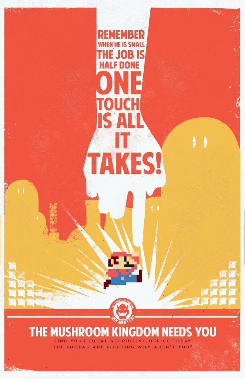 Mario Propaganda Keeps Bowser's Home Fires Burning