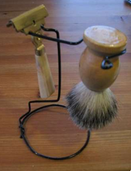 DIY Razor and Shaving Brush Stand