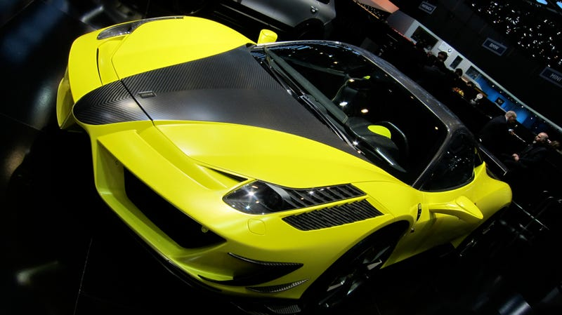 A good Ferrari 458 died to make the Mansory Siracusa