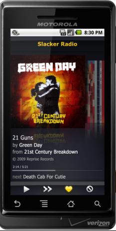 Slacker Radio App Comes to Android Market