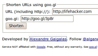 Create Goo.gl Shortlinks Without the Google Toolbar