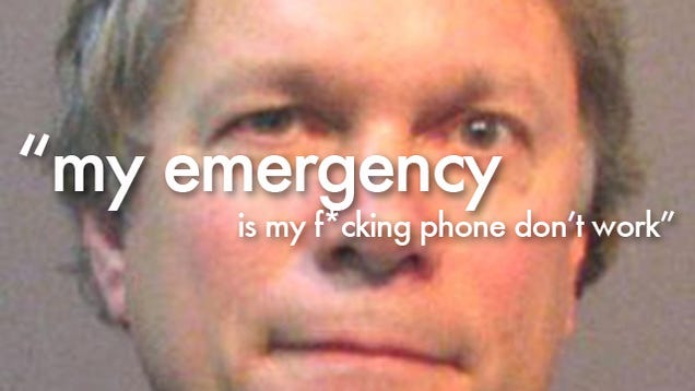 Listen to This Drunk Idiot Call 911 About His Broken iPhone