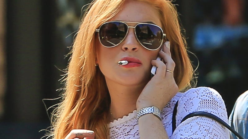 Sober Lindsay Lohan Stays Up All Night Smoking, Singing Karaoke