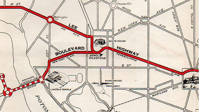 The American Autobahn of 1925 would've run next door to the White House