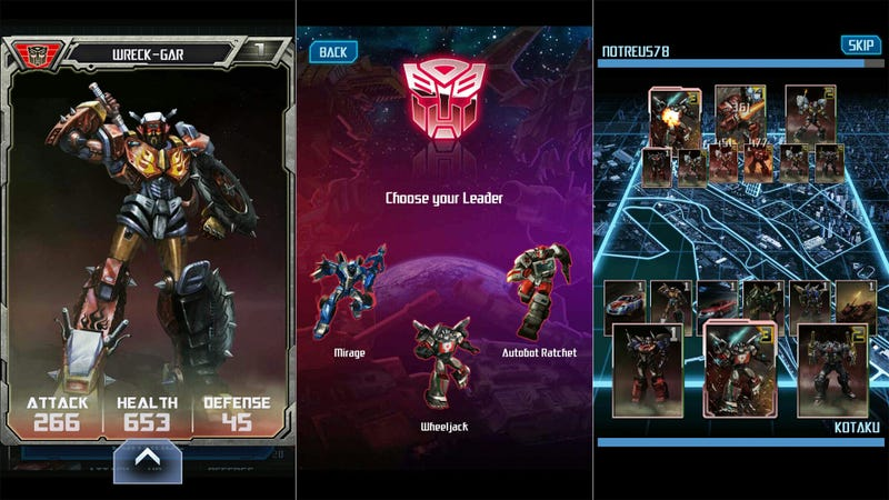 Transformers Legends is Out, Suddenly Mobile Collector Card Games Make Sense