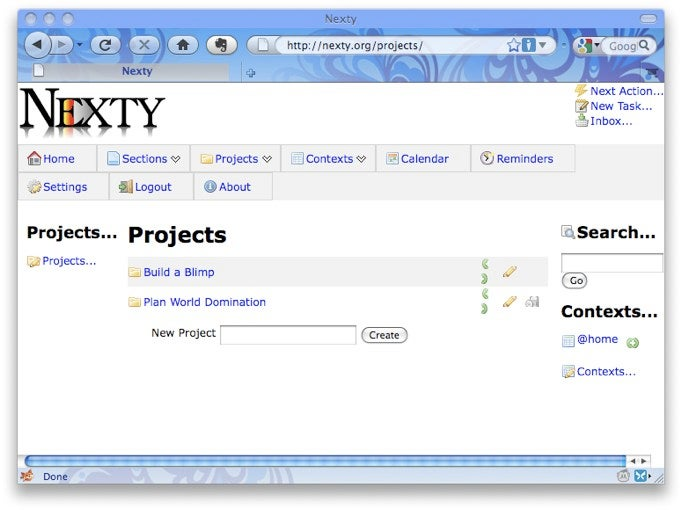 Nexty Is a GTD-Focused, Web-Based To-Do List