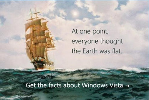 "Microsoft's ""Vista Doesn't Suck"" Ad Campaign Thinks Everyone Remembers The 15th Century"