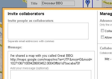 Collaborate Wiki-Style on Google's My Maps