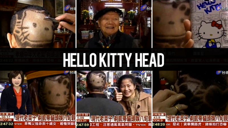 Man Gets Hello Kitty Haircut To Amuse His Father