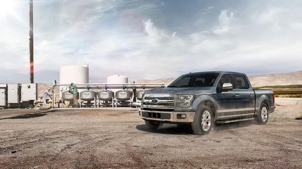 New F150. Cool tricks. Really ugly. And *Military Grade?