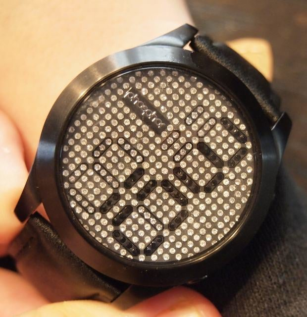 Phosphor Reveal Solid Crystal Display Watch