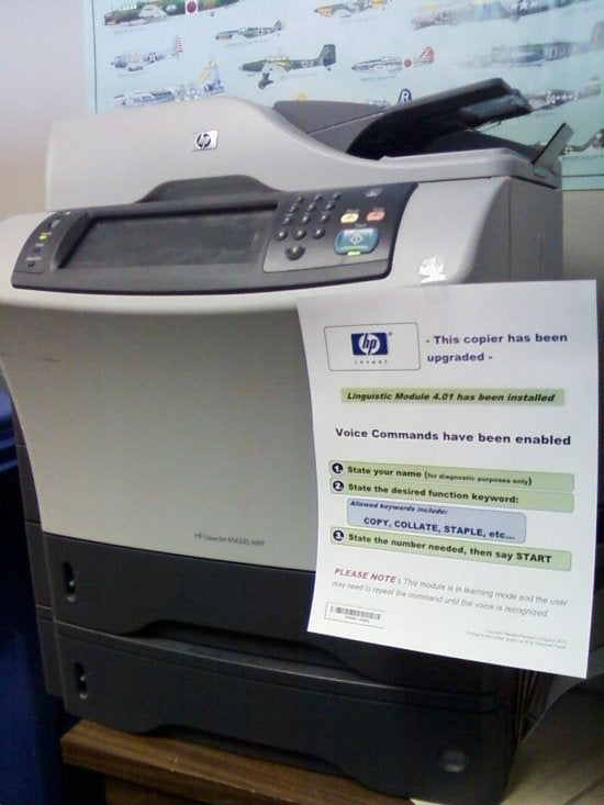 Voice Command Copier Prank, Just In Time for April Fool's