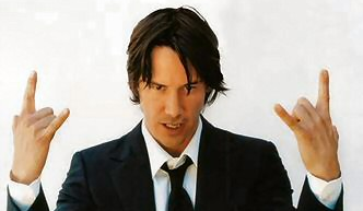 Keanu Reeves Not As Dumb As He Looks, Acts