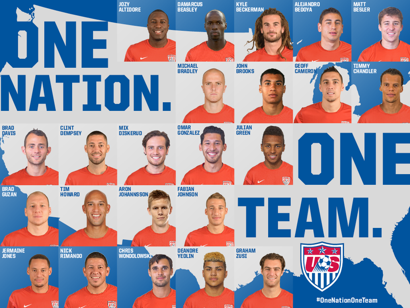 Here's The U.S. World Cup Roster