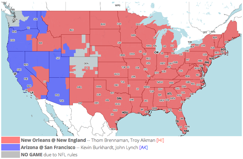 Which TV Market's Getting Screwed Today? Your Week 6 NFL Viewing Maps