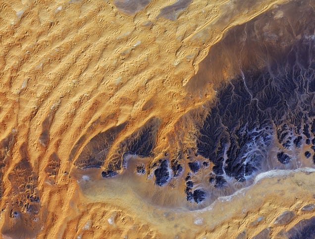 The Algerian Sahara Looks Stunning From Orbit
