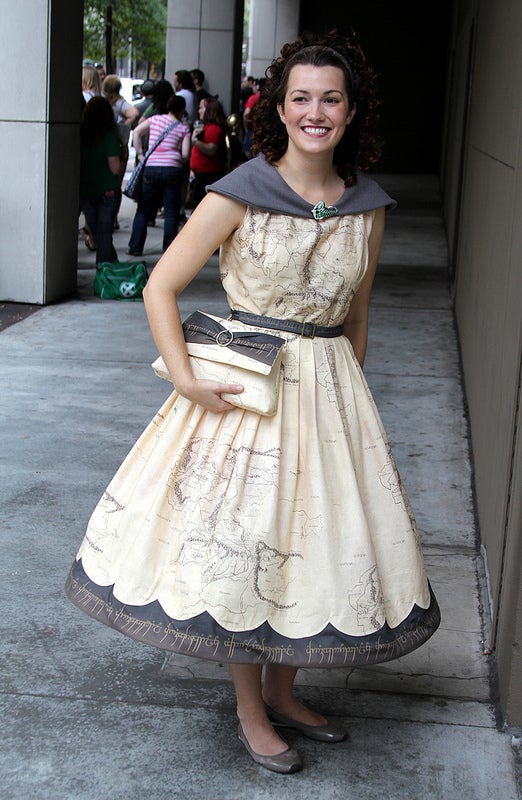 Middle Earth map dress outfits you for an unexpected journey